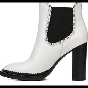 7122f0e7c6c Sam Edelman Salma Ankle Bootie Boots White Leather